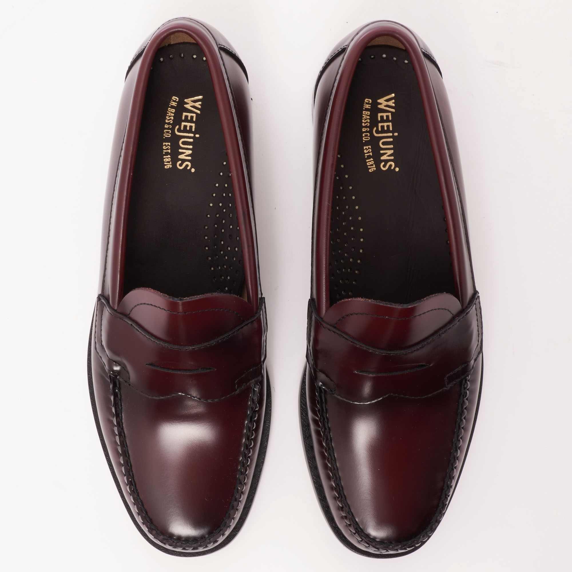 436161856ee Bass Weejuns Logan Polished Leather Loafer (Wine) at Dandy Fellow