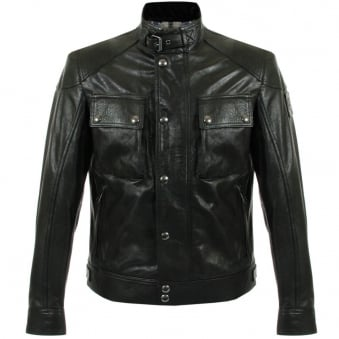 Belstaff Racemaster Black Leather Jacket 71020192