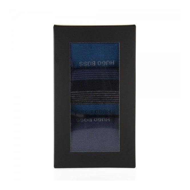 Hugo Boss Black Accessories Boss Black Cotton socks in a triple pack Design Box