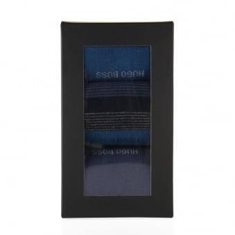 Boss Black Cotton socks in a triple pack Design Box