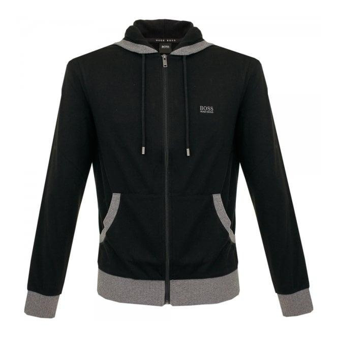 Hugo Boss Loungewear Boss Black Hooded Black Zip Sweatshirt 50302785