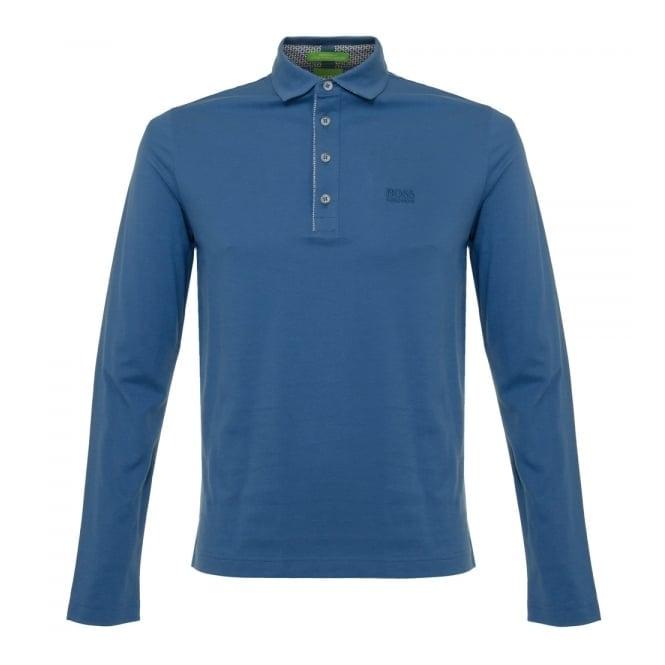 Hugo Boss Green Boss Green C-tivoli 1 Open Blue Polo Shirt 50320709