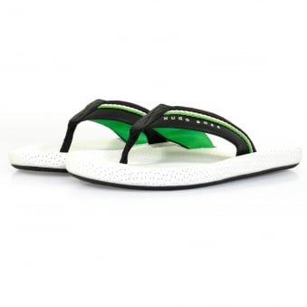 Boss Green Shoreline Fresh White Flip Flops 50311642