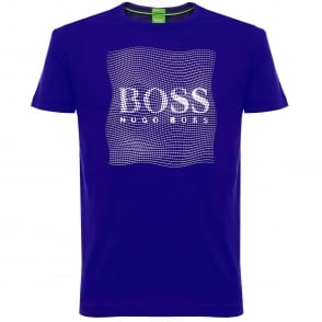 Boss Green Tee 8 Open Blue T-Shirt 50319815
