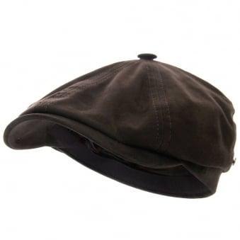 Brooklin Goat Suede Newsboy Cap- Brown