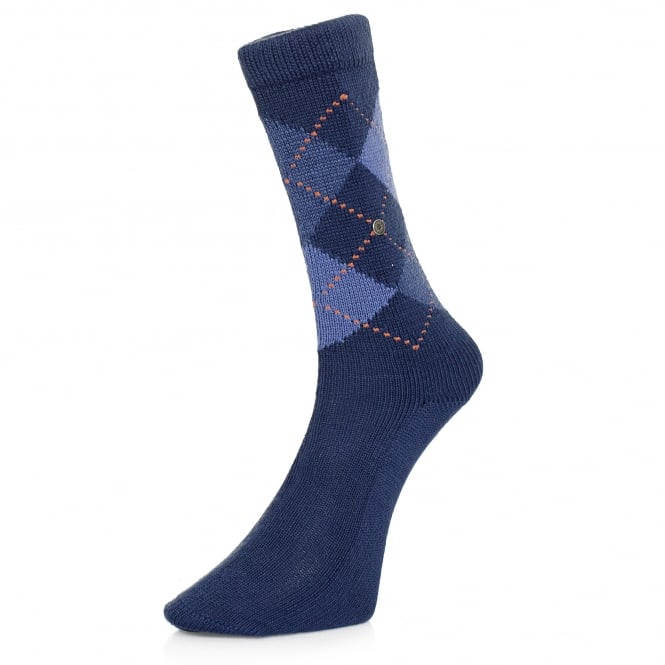 Burlington Socks Burlignton Preston Argyle Blue Socks 24284