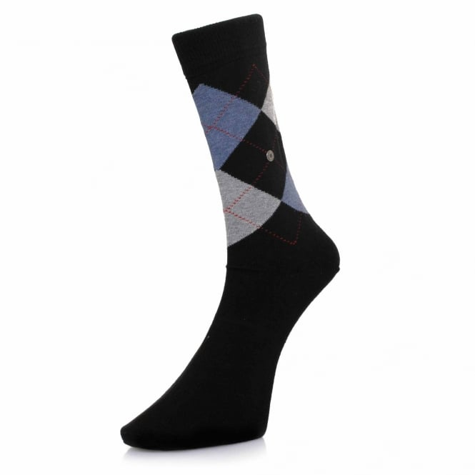 Burlington Socks Burlington King Black Argyle Socks 21020 3001