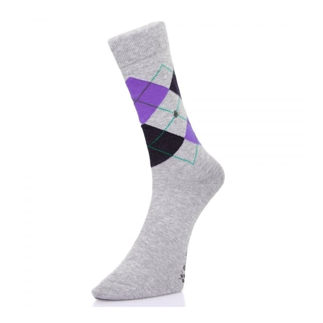 Burlington Socks Burlington Manchester grey Argyle socks 201823624