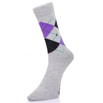 Burlington Manchester grey Argyle socks 201823624