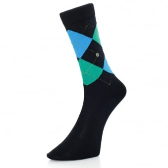 Burlington ManchesterDark Navy Argyle socks 201826149