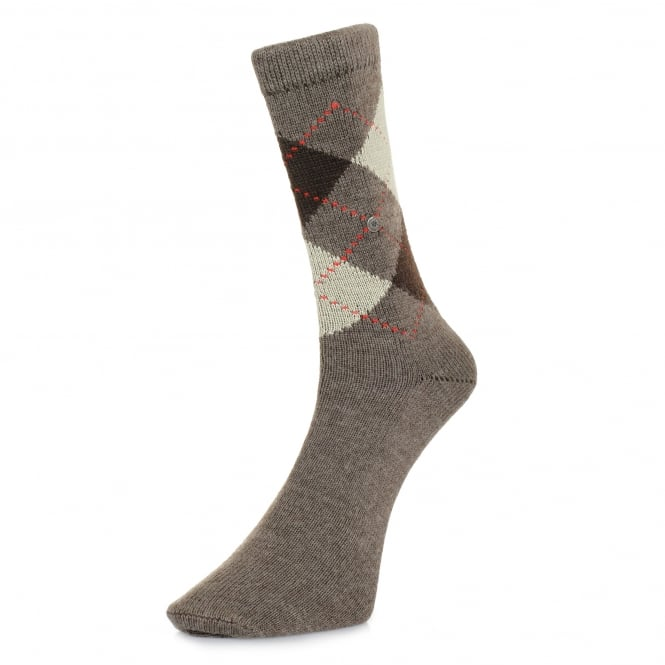 Burlington Socks Burlington Preston Brown Argyle Socks 24284 5256