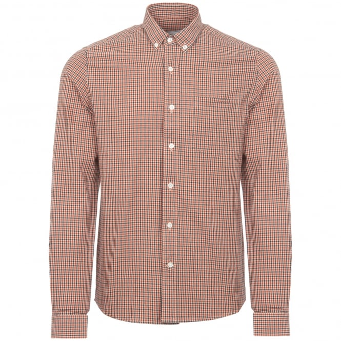 AMI Button Down Gingham Shirt