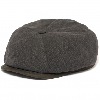 Canvas Hatteras Flat Cap- Anthracite
