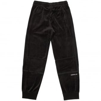 Black Challenger Velour Track Pants