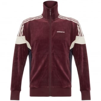 Velour Track Top - Maroon