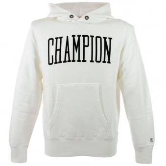 Champion Vintage White Hoodie  D414F14 T001