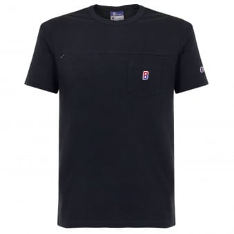Champion X Beams Pocket Navy T-Shirt 210630