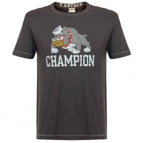 Champion X Todd Snyder Bulldog Pha Grey T-Shirt D021E66