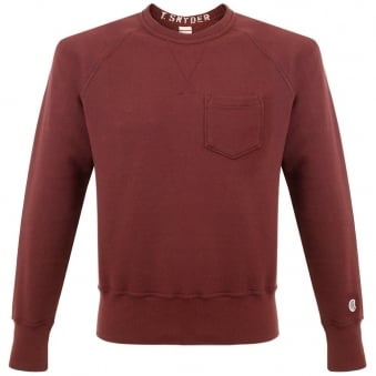 Champion X Todd Snyder Fleece Crew Neck Maroon Sweatshirt D918X65