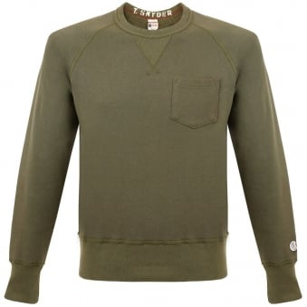 Champion X Todd Snyder Fleece Crew Neck Olive Sweatshirt D918X65