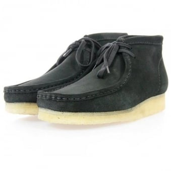 Clarks Originals Wallabee Black Suede Boot 2610366