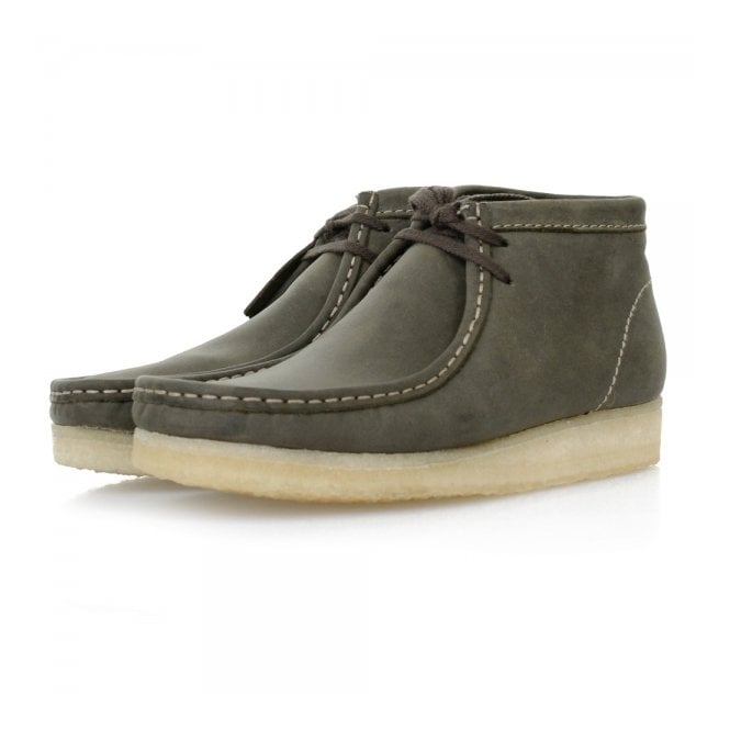 Clarks Originals Wallabee Dark Green Leaf Boots 16050
