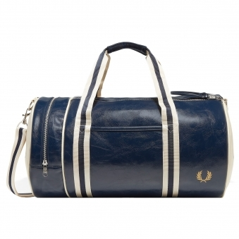 Navy Classic Barrel Bag