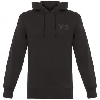 Black Classic Logo Pullover Hoodie
