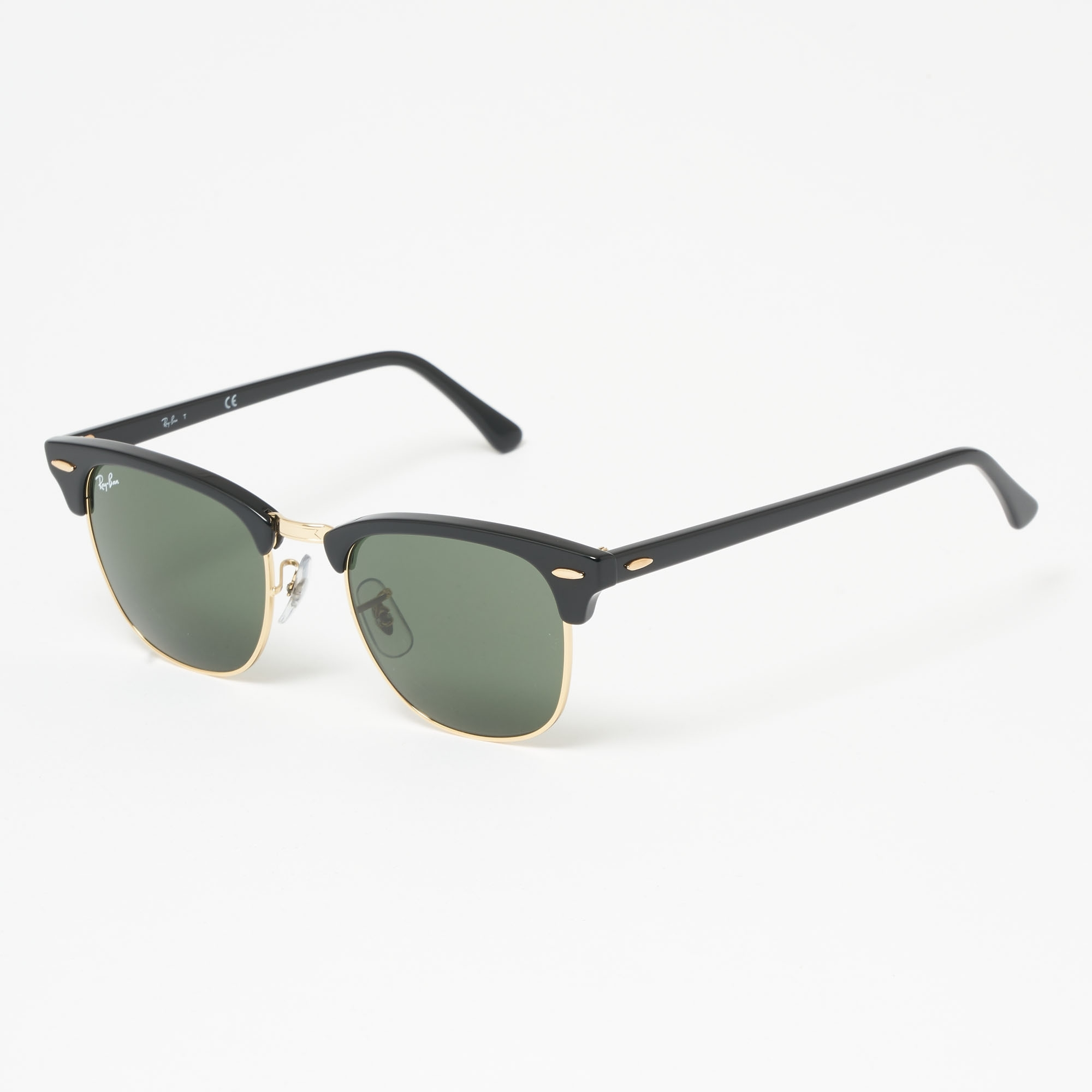Ray Ban Clubround Classic Sunglasses Green Classic G 15 Lenses