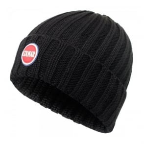 Colmar Ribbed Black Pull On Beanie 5096 8LO 99