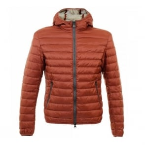 Colmar Super Lightweight Hooded Rust Down Jacket MU 1277N 1MQ