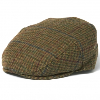 Barbour Crieff Dark Olive Check Flat Cap MHA0009OL91