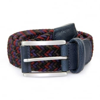 Anderson Woven Multi Purple Burgundy Braided Belt