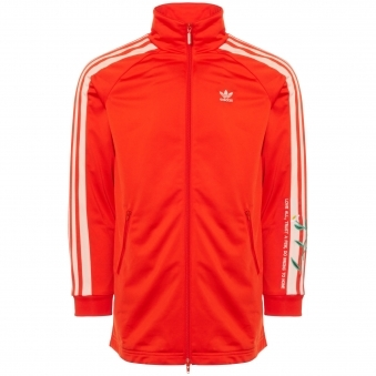 Fashion Long Track Jacket - Bold Orange