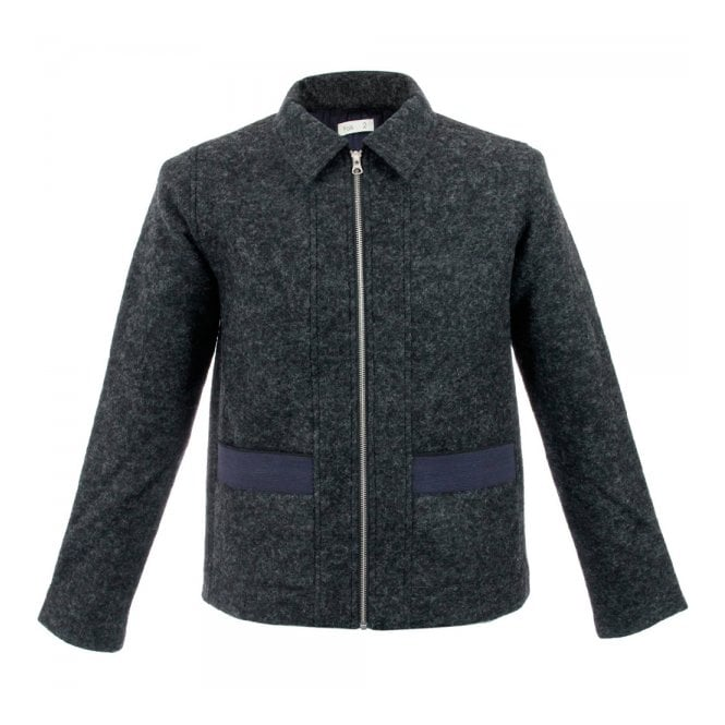 Folk Clothing Folk Layered Black Navy Pocket Jacket F2404W
