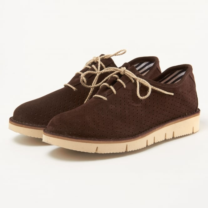 Fracap Forata Dark Brown Suede Shoes F220