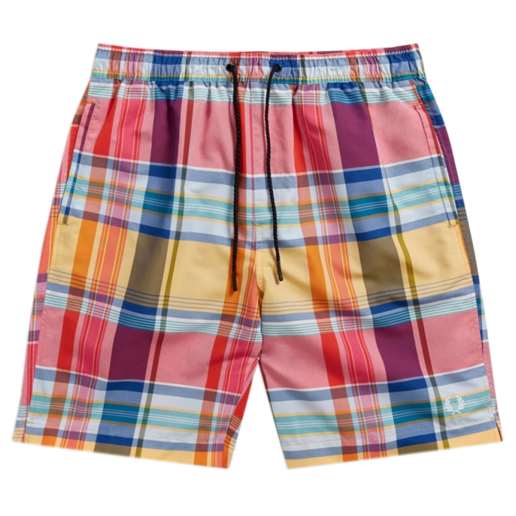 0b9c48463c Fred Perry Madras Check Swim Shorts (Red) at Dandy Fellow