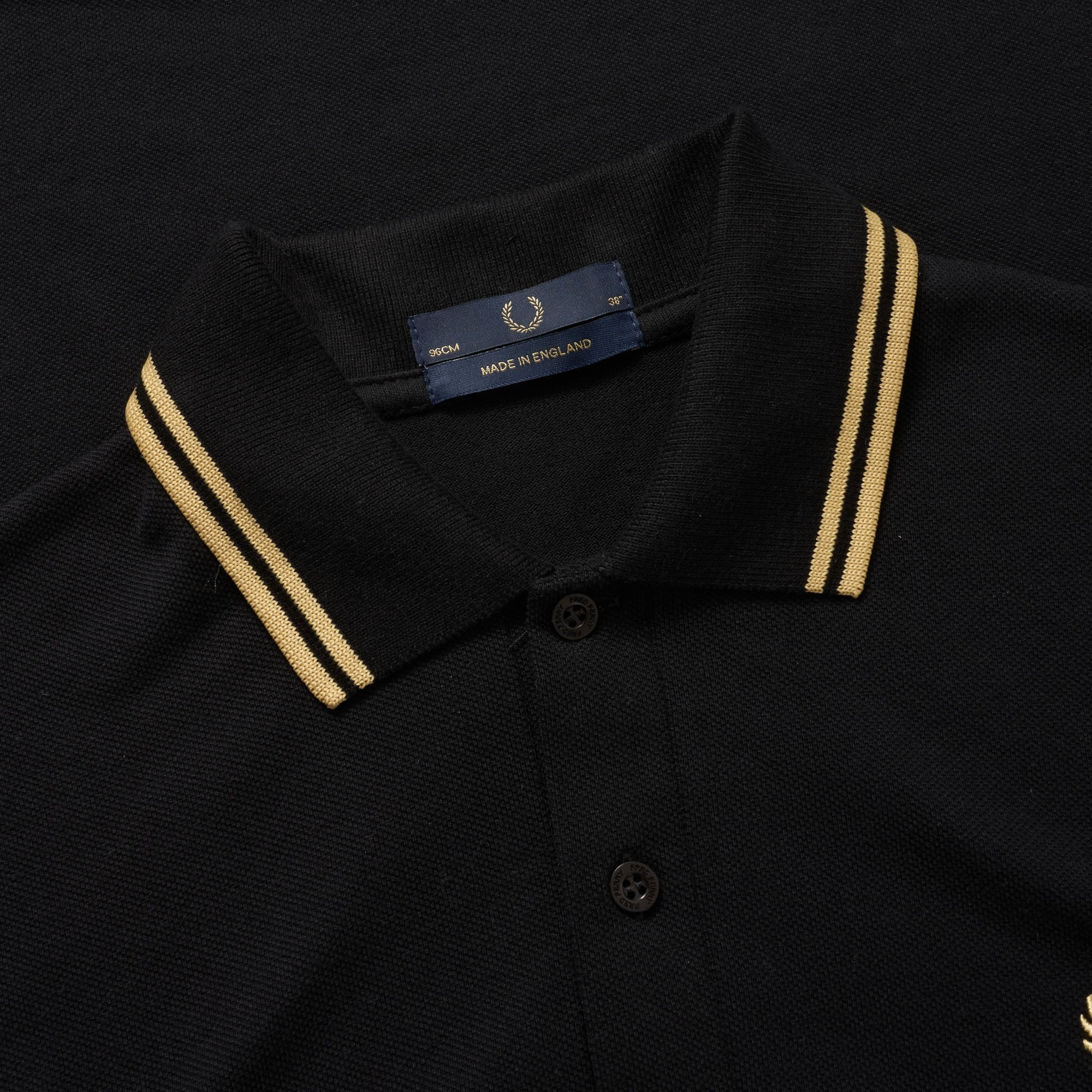 09fdf0571 Fred perry Twin Tipped Polo Shirt (Black   Gold) at Dandy Fellow