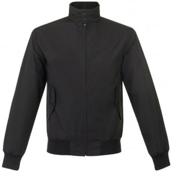 Fred Perry Made in England Black Harrington Jacket J1170 102