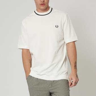 Fred Perry Pique Snow White T-Shirt M4127 752