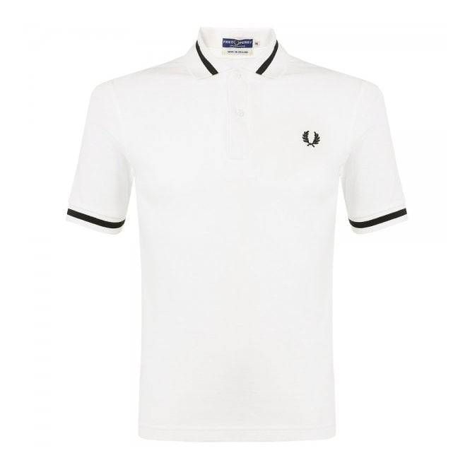 8c4accad6 Fred Perry The Single Tipped Snow White Polo Shirt M2 129