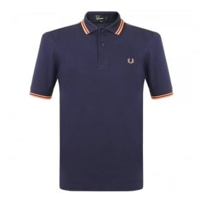 Fred Perry Twin Tipped Carbon Blue Polo Shirt M3600