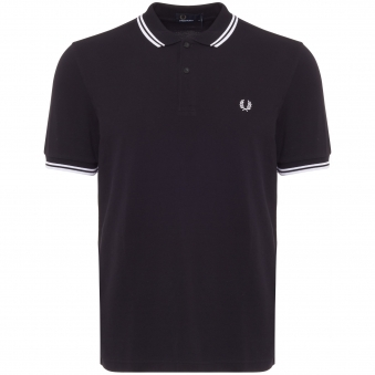 Fred Perry Twin Tipped Navy Polo Top m3600238