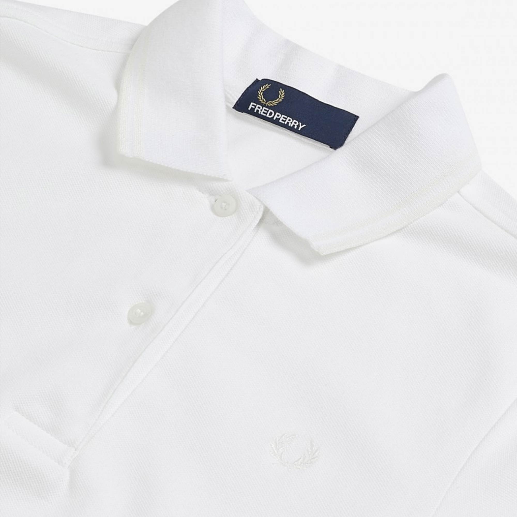 89b6e91c Fred Perry Womens Twin Tip Polo Shirt (White) at Dandy Fellow