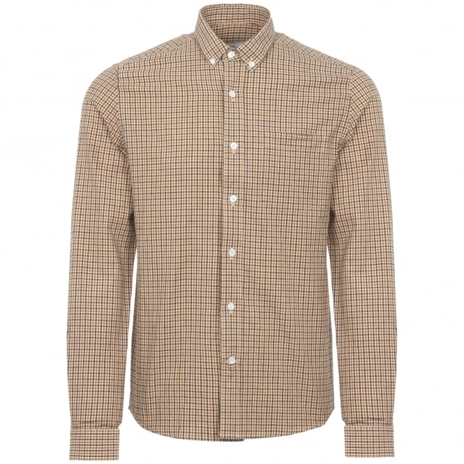AMI Gingham Button Down Shirt