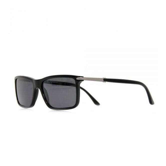 Giorgio Armani Sunglasses Giorgio Armani Rectangular Black Sunglasses AR8010
