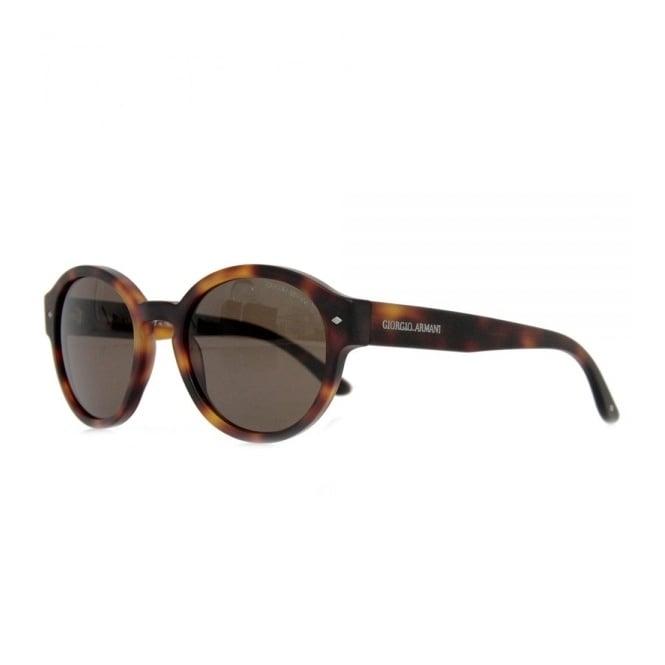 Giorgio Armani Sunglasses Giorgio Armani Retro Round Shape Tortoise Sunglasses AR8005