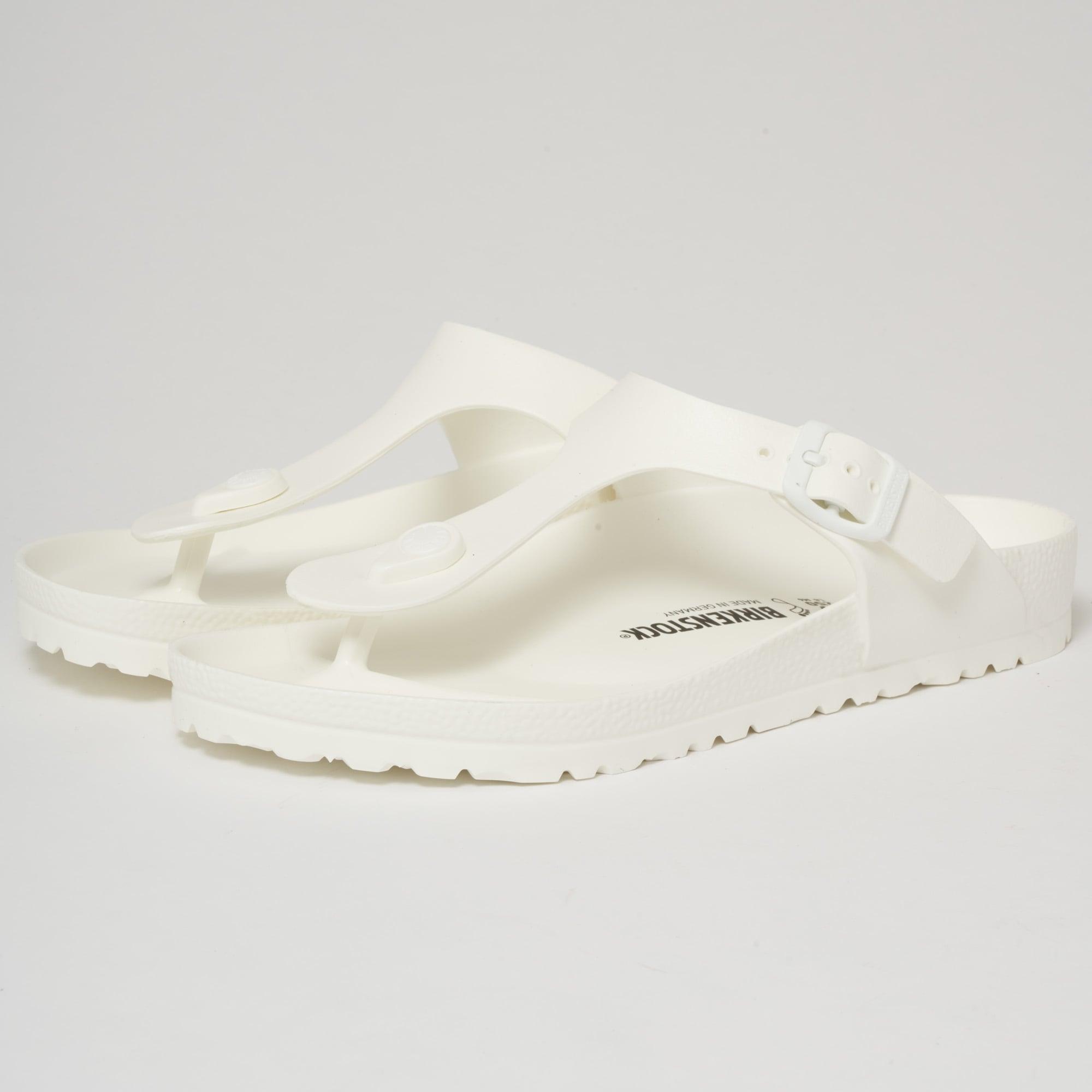 3fddf711dca Birkenstock Gizeh EVA Sandals White 128221   Dandy Fellow