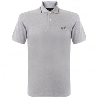 Gloverall Grey Pique Polo Shirt 3628PC