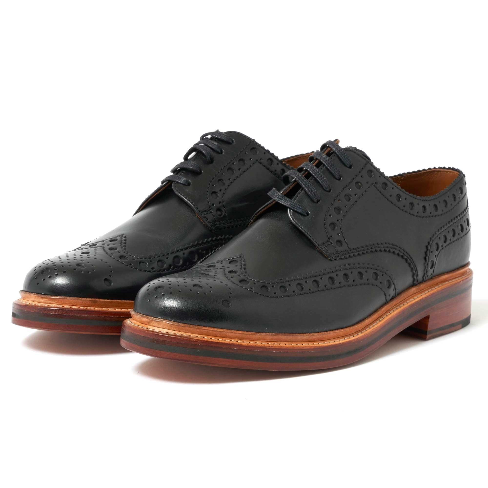 Grenson London | Archie Black Brogue Shoes